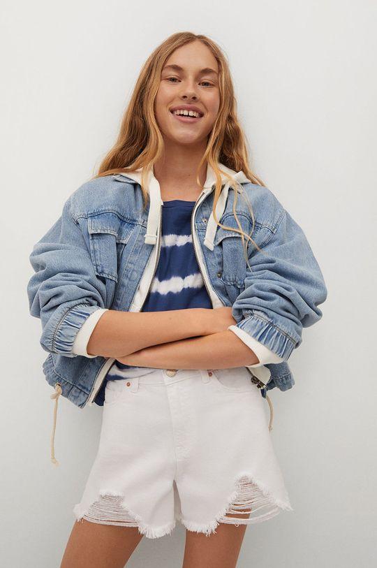 biały Mango Kids - Szorty jeansowe dziecięce Helen