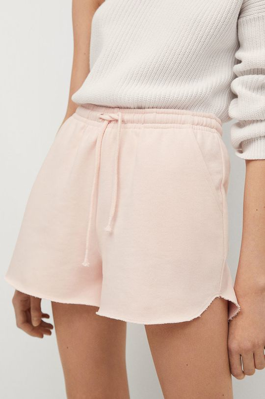 ružová Mango Kids - Detské krátke nohavice PASTEL Dievčenský