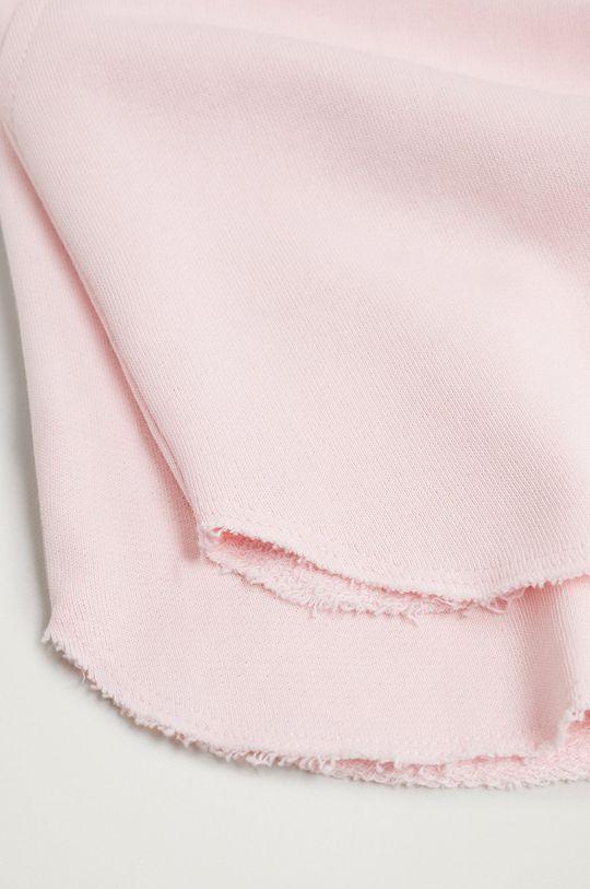ružová Mango Kids - Detské krátke nohavice PASTEL