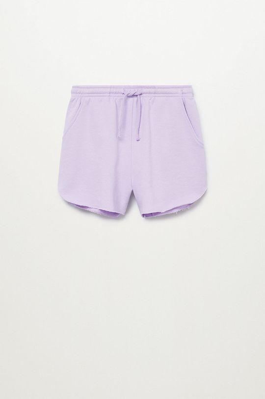 purpurowy Mango Kids - Szorty dziecięce PASTEL Dziewczęcy