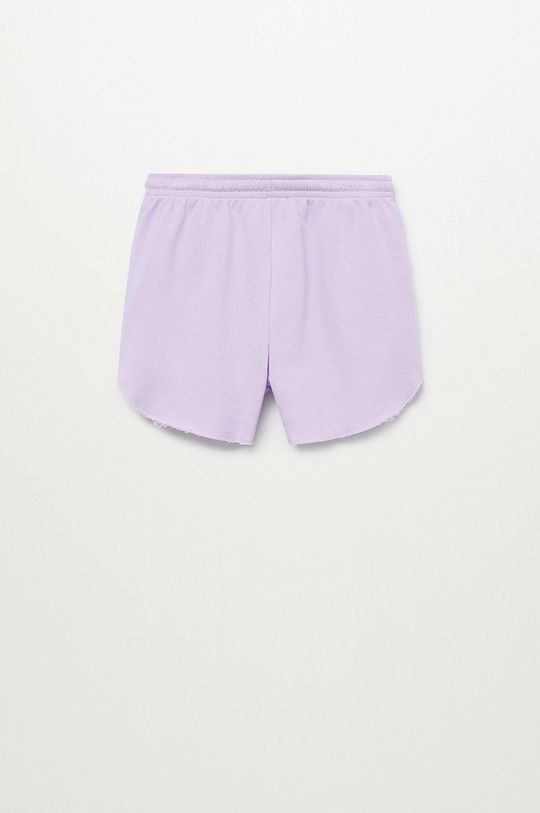 Mango Kids - Szorty dziecięce PASTEL purpurowy