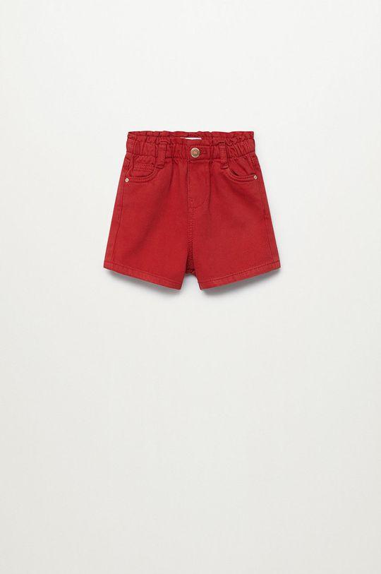 czerwony Mango Kids - Szorty jeansowe dziecięce Laura 80-104 cm Dziewczęcy