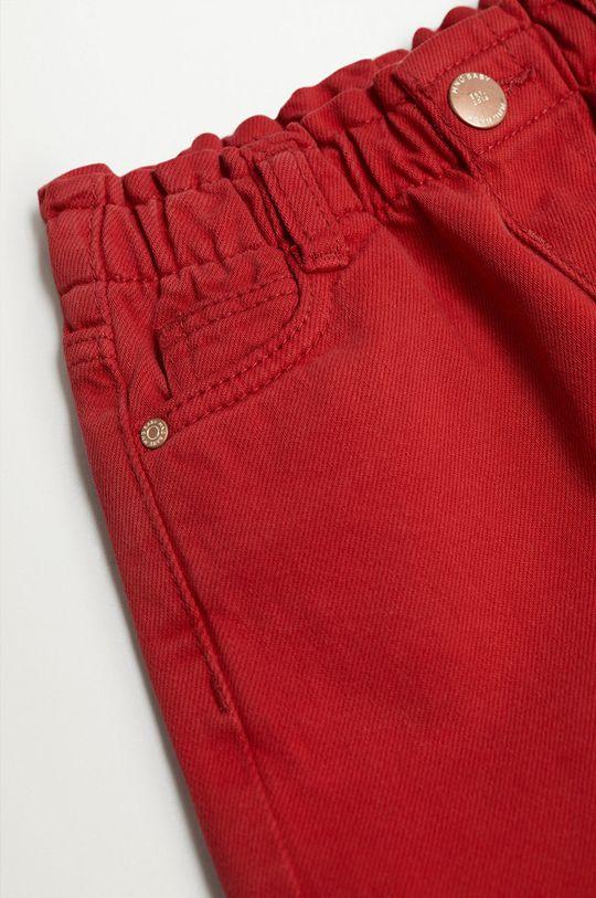 Mango Kids - Szorty jeansowe dziecięce Laura 80-104 cm czerwony