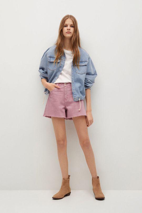różowy Mango Kids - Szorty jeansowe dziecięce Helenp Dziewczęcy