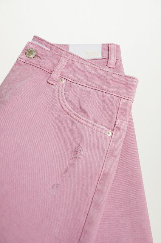 różowy Mango Kids - Szorty jeansowe dziecięce Helenp