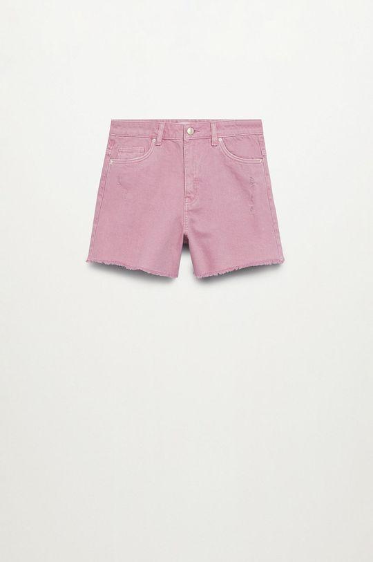 Mango Kids - Szorty jeansowe dziecięce Helenp Dziewczęcy