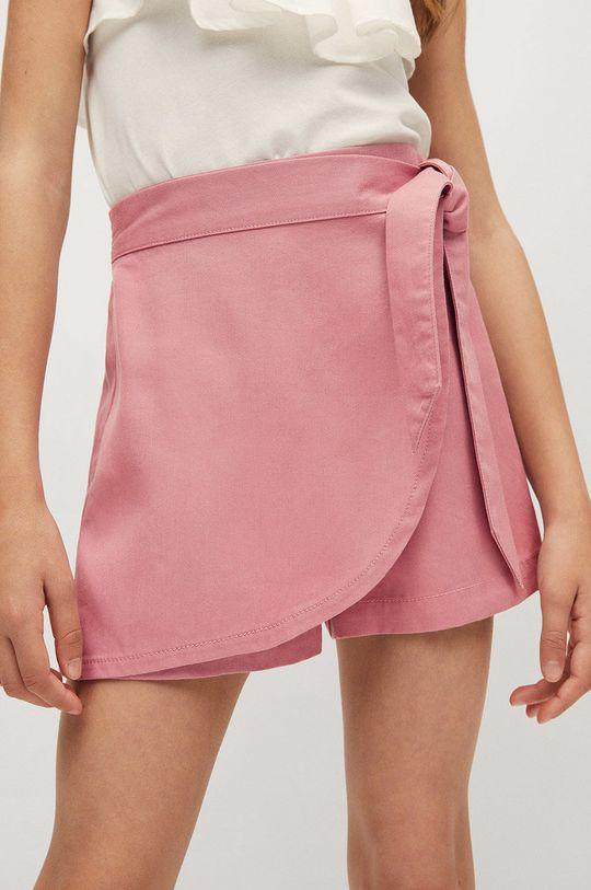 pastelowy różowy Mango Kids - Szorty dziecięce Lines 116-164 cm Dziewczęcy