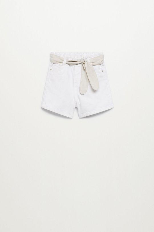 biały Mango Kids - Szorty dziecięce Laurab 80-104 cm Dziewczęcy