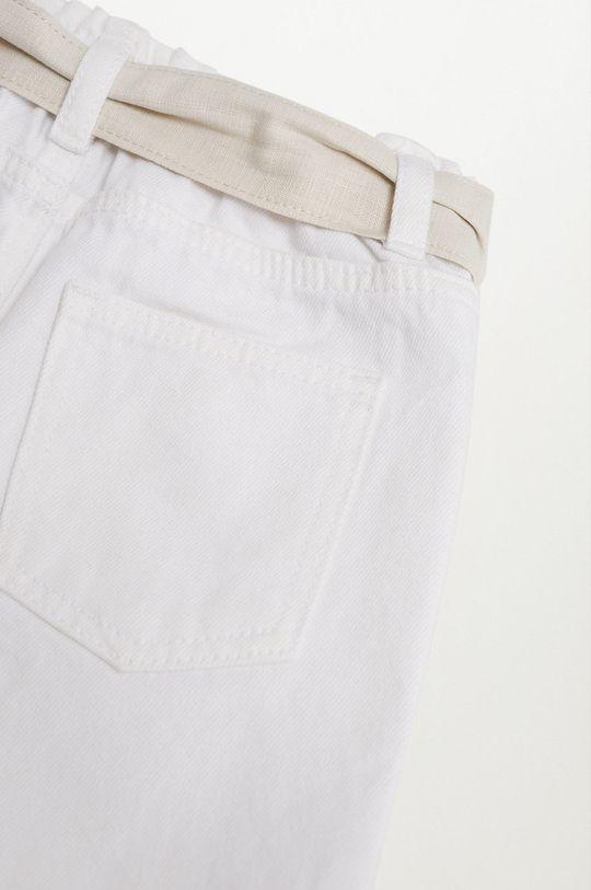 biały Mango Kids - Szorty dziecięce Laurab 80-104 cm