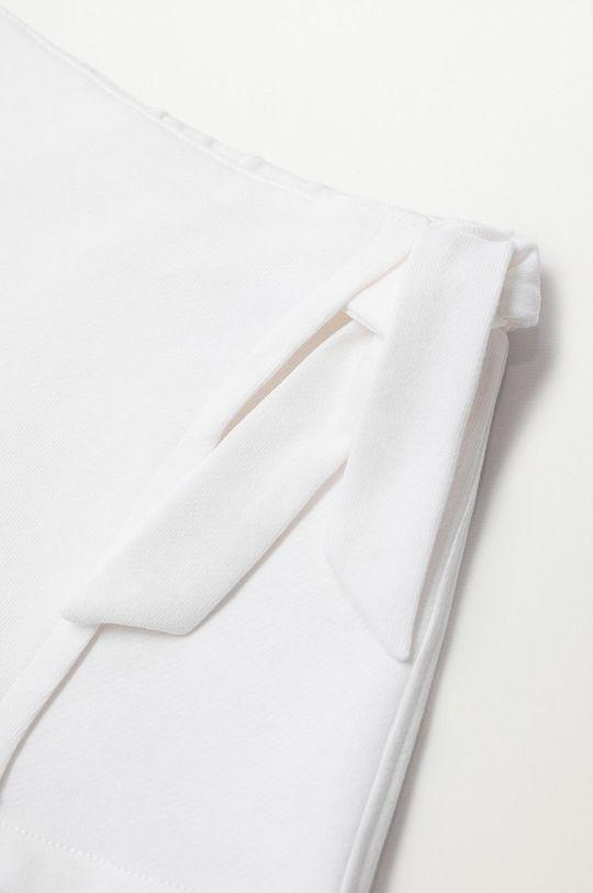 Mango Kids - Szorty dziecięce Tenis8 80-104 cm biały