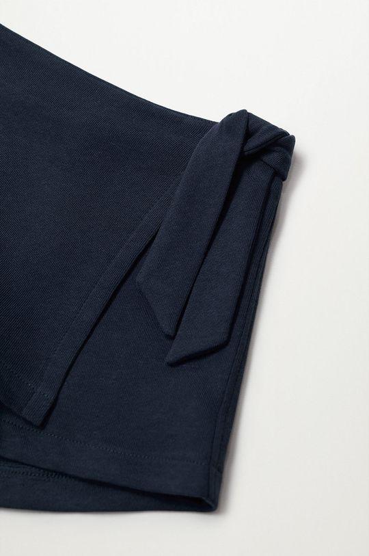 Mango Kids - Detské krátke nohavice Tenis8 80-104 cm tmavomodrá