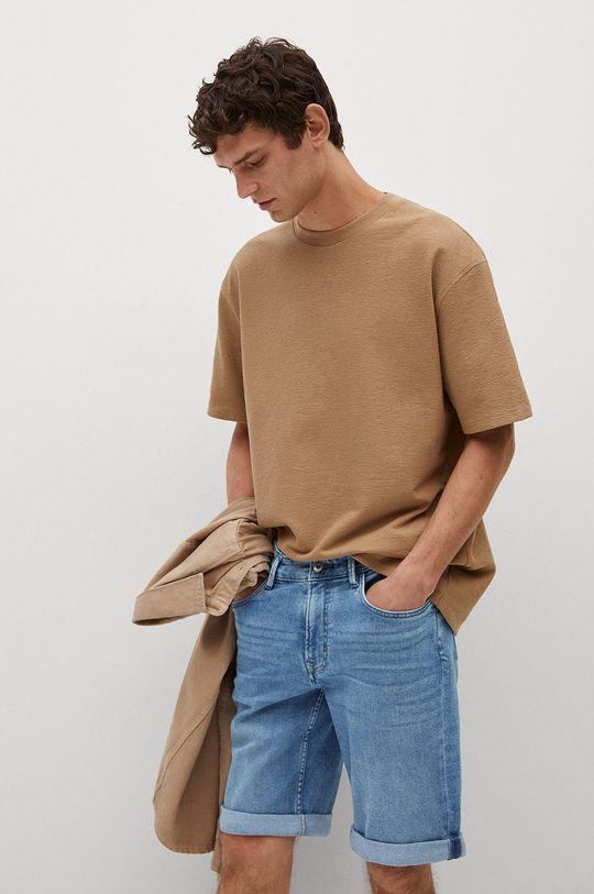 modrá Mango Man - Rifľové krátke nohavice Rock Pánsky