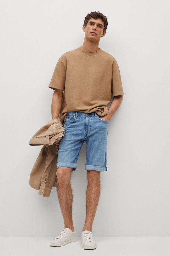 Mango Man - Rifľové krátke nohavice Rock modrá