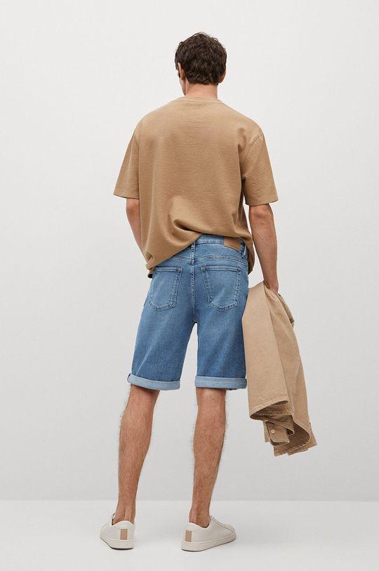 Mango Man - Rifľové krátke nohavice Rock  96% Bavlna, 1% Elastan, 3% Polyester