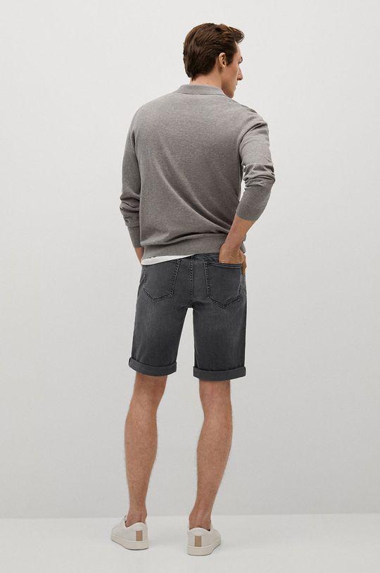 Mango Man - Szorty jeansowe Rock 95 % Bawełna, 2 % Elastan, 3 % Poliester