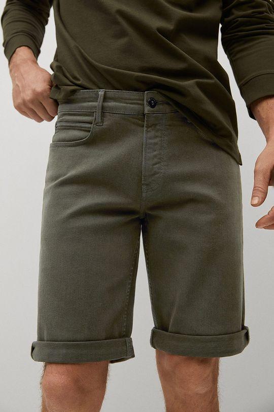złoty brąz Mango Man - Szorty jeansowe Nepto