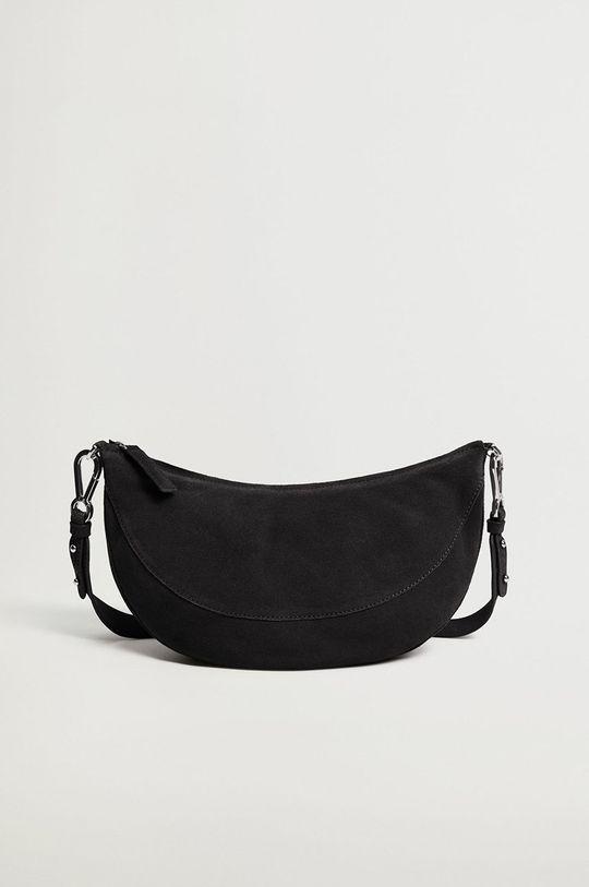 čierna Mango - Kožená kabelka YORK Dámsky