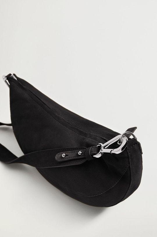 Mango - Kožená kabelka YORK  Podšívka: 100% Bavlna Základná látka: 100% Teliaca koža Iné látky: 100% Zinok
