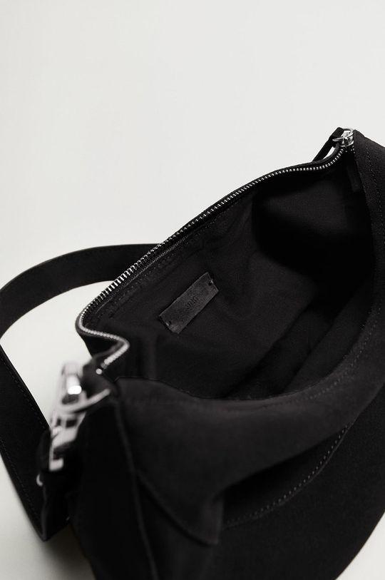 čierna Mango - Kožená kabelka YORK