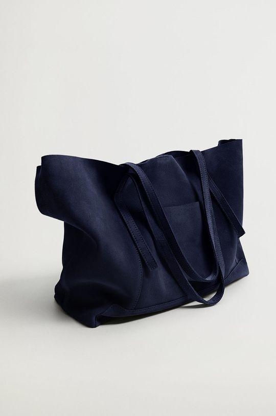 Mango - Semišová kabelka VEGA modrá