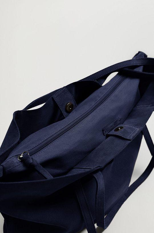modrá Mango - Semišová kabelka VEGA