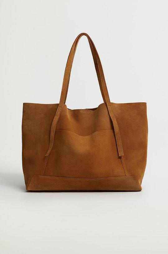 hnedá Mango - Semišová kabelka VEGA Dámsky