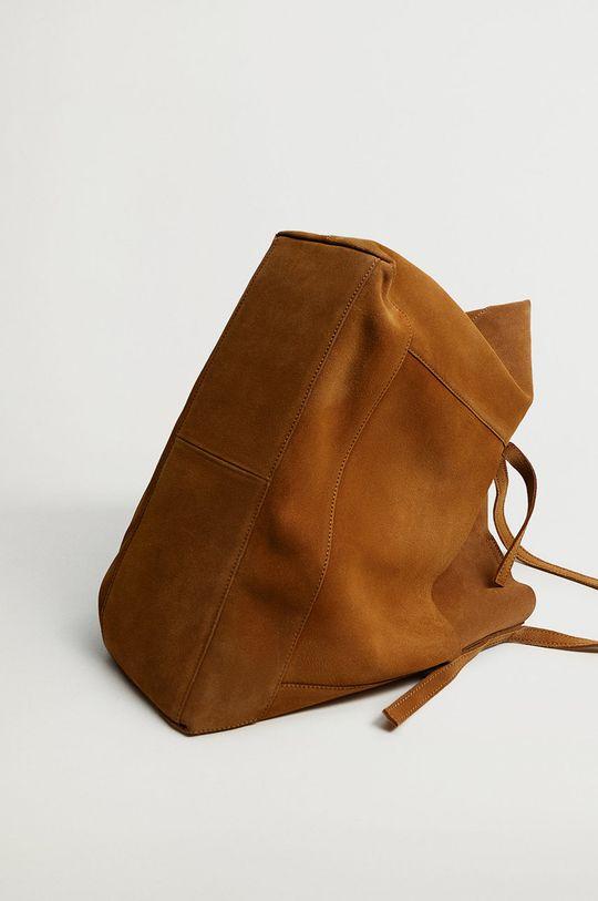 Mango - Semišová kabelka VEGA hnedá