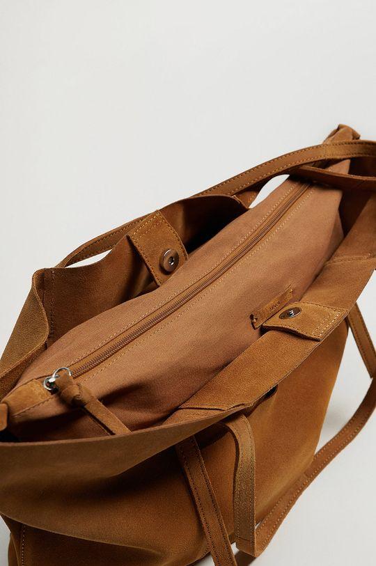 Mango - Semišová kabelka VEGA  Podšívka: 100% Bavlna Základná látka: 100% Teliaca koža