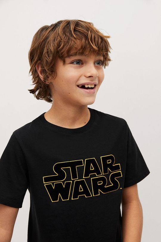 чорний Mango Kids - Дитяча футболка STARWARS Для хлопчиків