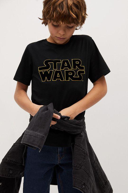 Mango Kids - Дитяча футболка STARWARS чорний