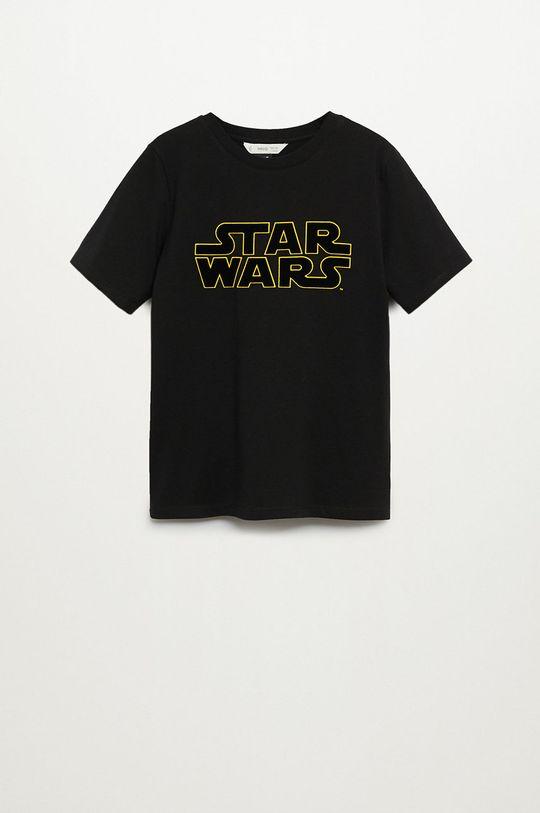 чорний Mango Kids - Дитяча футболка STARWARS