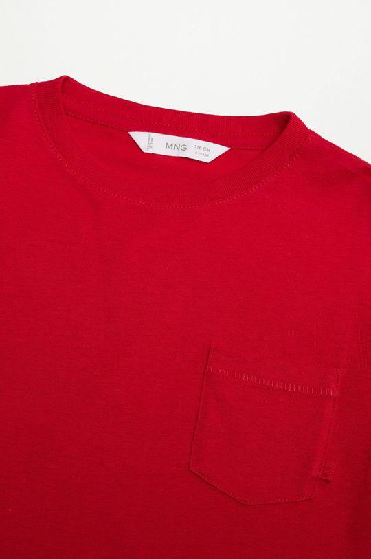 Mango Kids - Дитяча футболка BRAD червоний