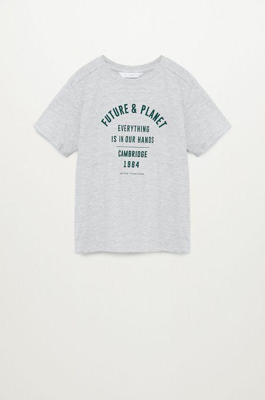 szary Mango Kids - T-shirt dziecięcy PLANET Chłopięcy