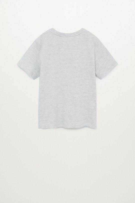 Mango Kids - T-shirt dziecięcy PLANET szary
