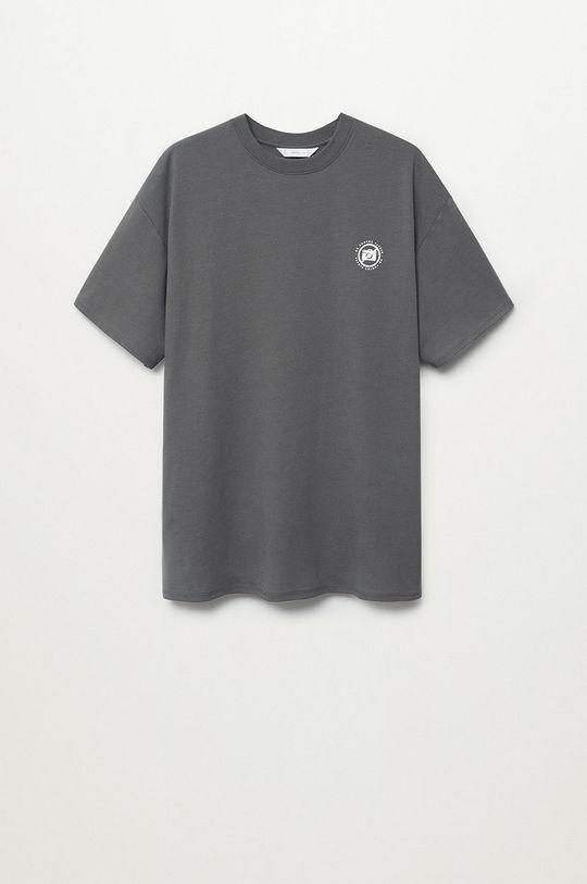 сірий Mango Kids - Дитяча футболка PHOTO Для хлопчиків