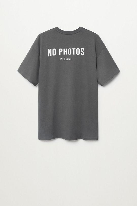 Mango Kids - Дитяча футболка PHOTO сірий