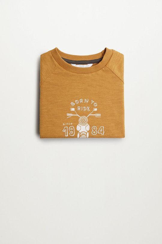Mango Kids - Дитячий лонгслів MOTO