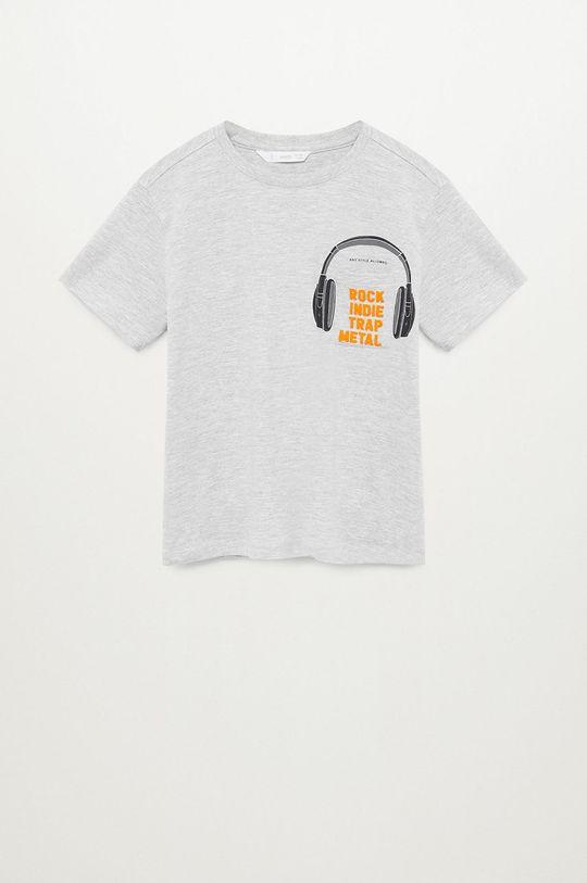 sivá Mango Kids - Detské tričko ROCK Chlapčenský