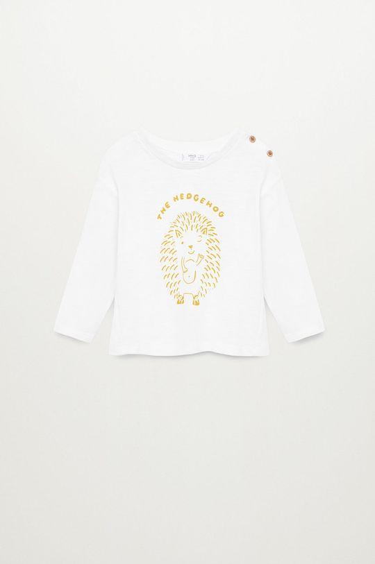 biela Mango Kids - Detské tričko s dlhým rukávom NICO Chlapčenský