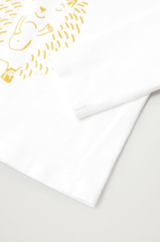 Mango Kids - Detské tričko s dlhým rukávom NICO biela