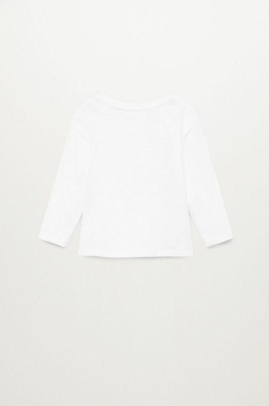 biela Mango Kids - Detské tričko s dlhým rukávom NICO