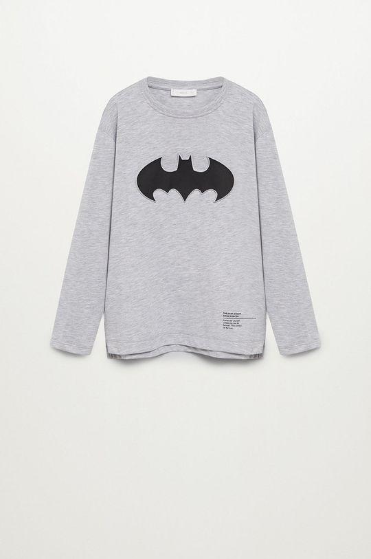 sivá Mango Kids - Detské tričko s dlhým rukávom DC Chlapčenský