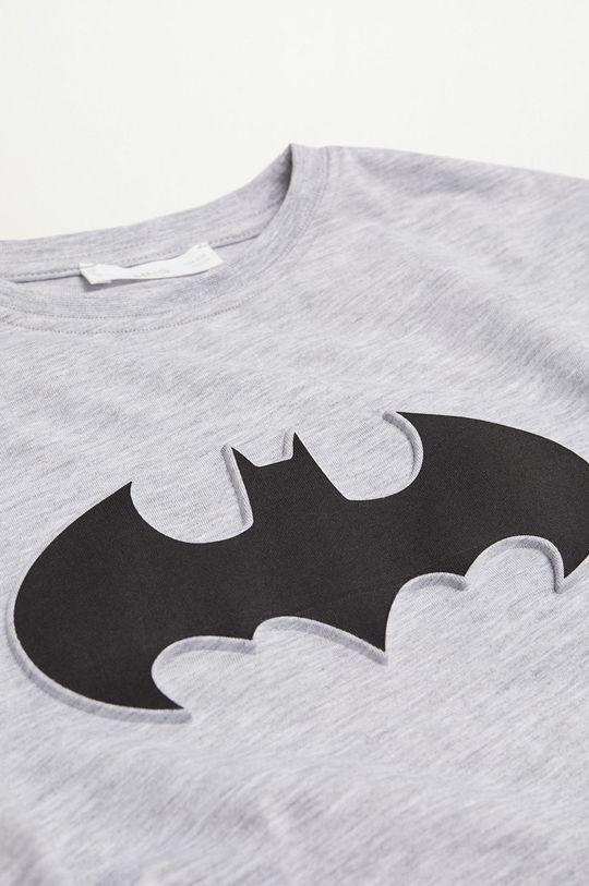 Mango Kids - Detské tričko s dlhým rukávom DC sivá