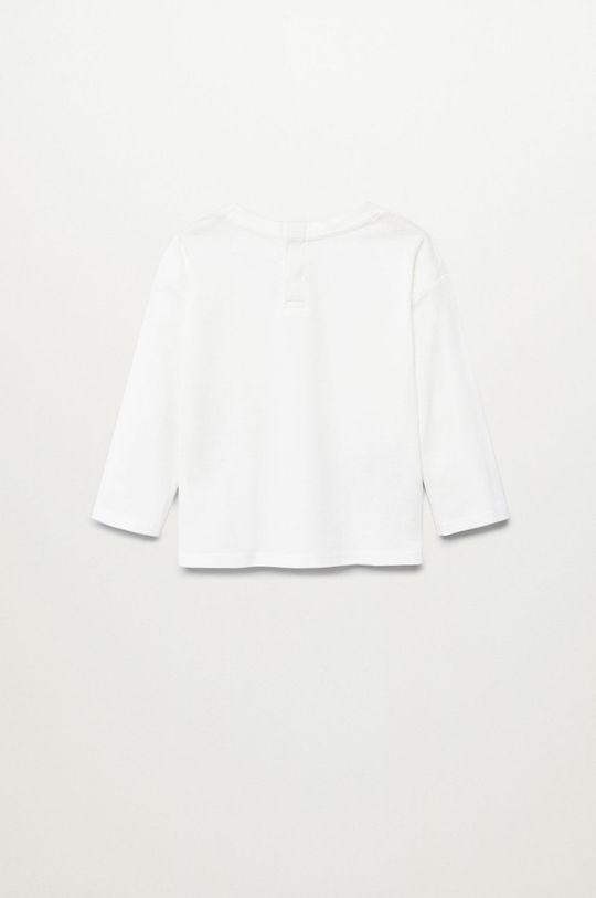 biela Mango Kids - Detské tričko s dlhým rukávom DINO