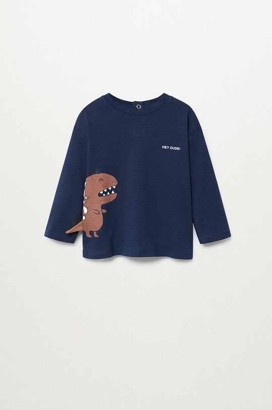 tmavomodrá Mango Kids - Detské tričko s dlhým rukávom DINO Chlapčenský