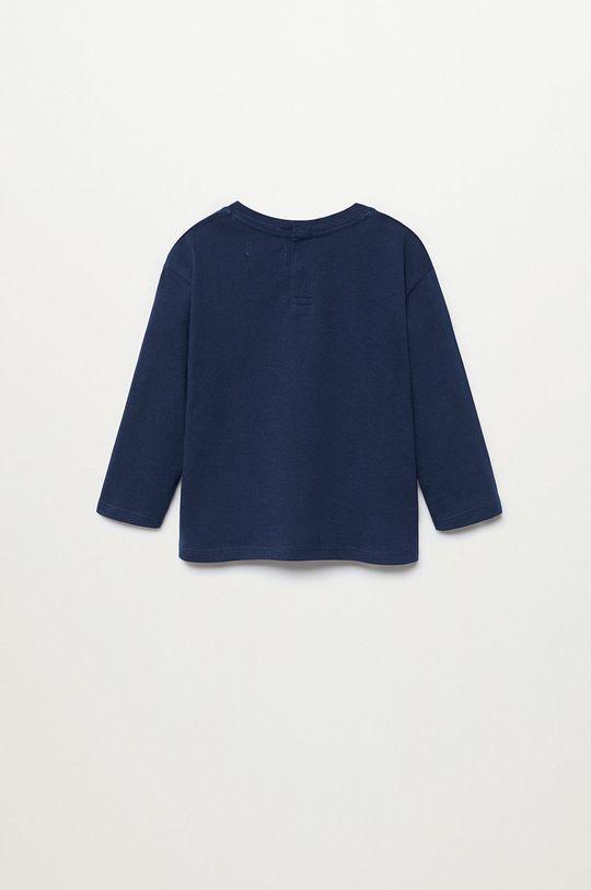 tmavomodrá Mango Kids - Detské tričko s dlhým rukávom DINO