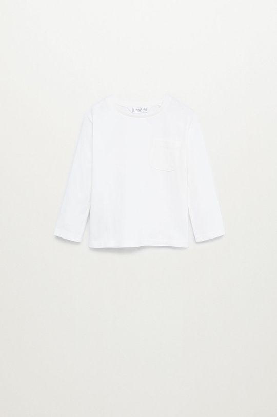 biela Mango Kids - Detské tričko s dlhým rukávom MARCOS8 Chlapčenský