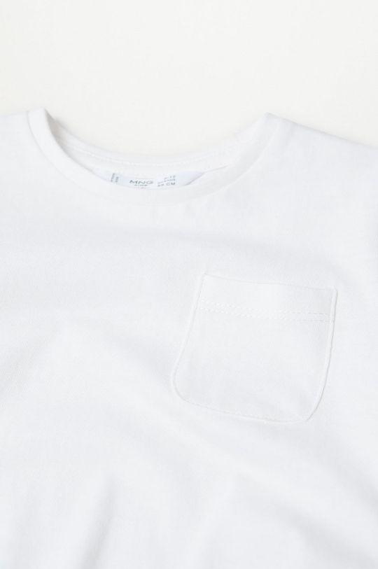 Mango Kids - Detské tričko s dlhým rukávom MARCOS8 biela
