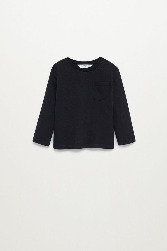 čierna Mango Kids - Detské tričko s dlhým rukávom MARCOS8 Chlapčenský