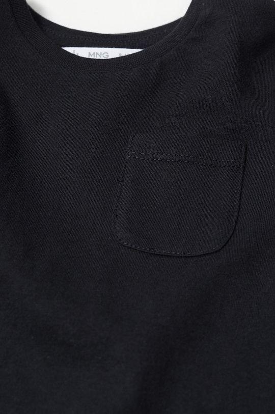Mango Kids - Detské tričko s dlhým rukávom MARCOS8 čierna